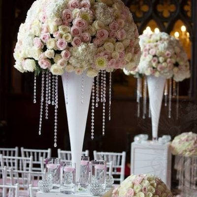Sweet Avalanche and Avalanche+ styled by Red Floral Architecture for a wedding at Peckforton Castle! (photo by Lesley Meredith Photography)