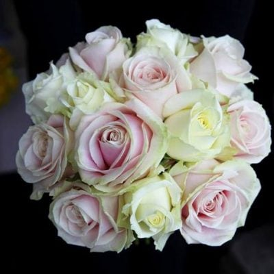 Bridal bouquet of Avalanche+ and Sweet Avalanche created by Katie Peckett Flowers