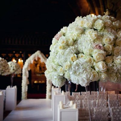 Entrance to the aisle with Avalanche+ designed by Red Floral Architecture
