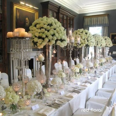 Wedding dinner styled with Avalanche+ by Red Floral Architecture. Photo by Lesley Meredith Photography