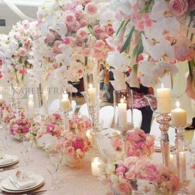 Sweet Avalanche byMeijer Rosesstyled at theKaren Tran Master floral classin Kiev! (photo byKaren Tran Florals)