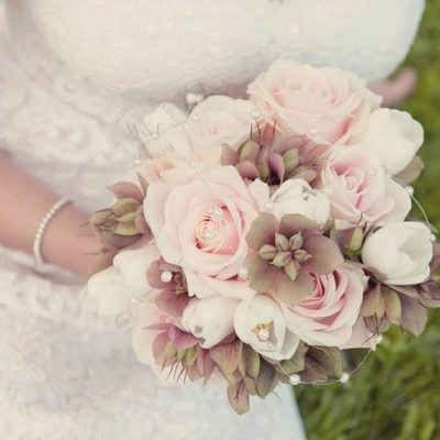 Bridal bouquet made with Sweet Avalanche by Wedding and Events Floral Design