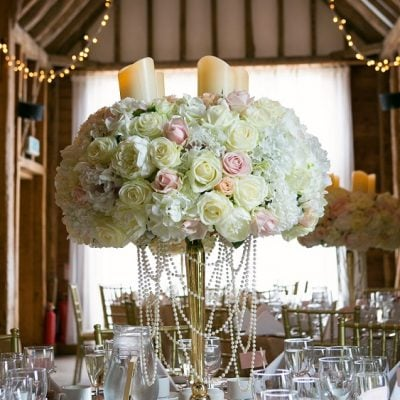 Centerpiece designed by Amie Bone Flowers
