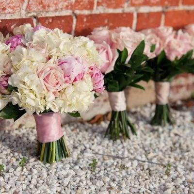 Bridesmaids bouquets designed by Amie Bone Flowers