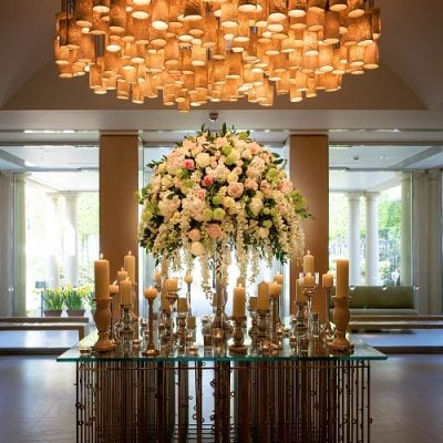 Wedding decoration designed by Amie Bone Flowers