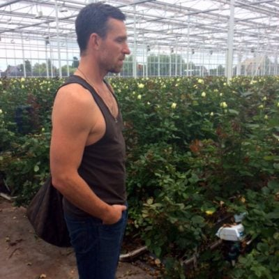 Jeff Leatham visiting one of our gardens