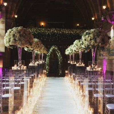 Avalanche styled by Red Floral Architecture at the Peckforton Castle