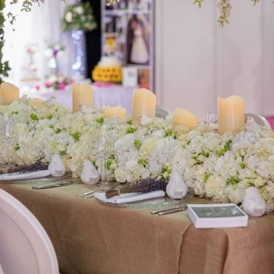 This Low Centerpiece Was Created By Amie Bone Flowers