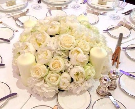 Only White Centerpiece By Blomster Designs