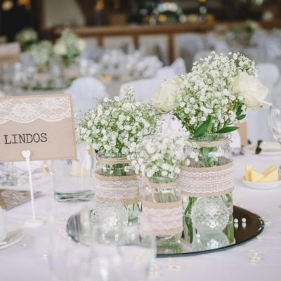 Centerpieces for guests tables.