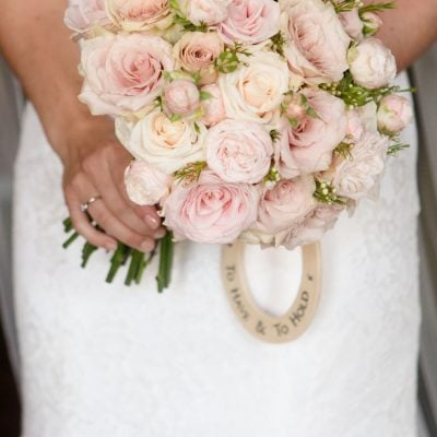 Close up of bridal bouquet