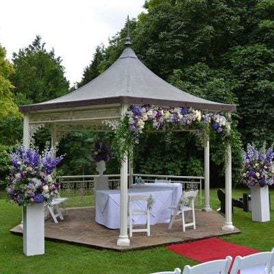 Outdoor Wedding Ceremony by Blomster Designs